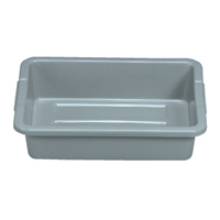FG334900GRAY RUBBERMAID BUS BOX 15X20X5 GRAY 4.6GAL 12/CS