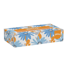 21606 KLEENEX FACIAL TISSUE 2-PLY 48/125 FLAT BOX WHITE