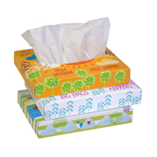 21195-04 KLEENEX FACIAL TISSUE 2-PLY 80/40 FLAT BOX