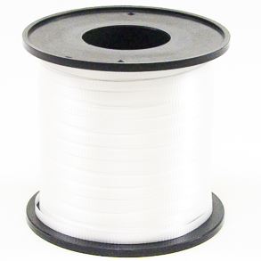 "WHITE 3/8""X250 YARDS CURLING HOLLYWOOD RIBBON"