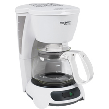 TF4-099 MR. COFFEE 4-CUP MAKER WHITE AUTO OFF PAUSE & SERVE