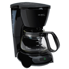 TF5-099 MR. COFFEE 4-CUP MAKER BLACK AUTO OFF PAUSE &