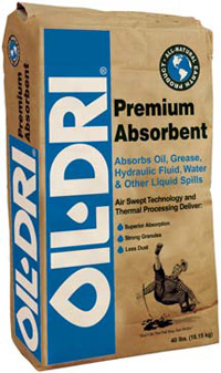 OIL-DRI PREMIUM ABSORBENT 50# (40BG TO A PALLET)