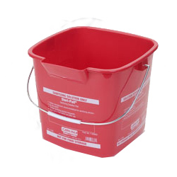 1182905 STERI PAIL 6QT RED 12/CS SQUARE