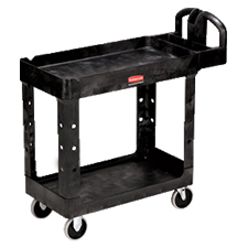 FG450088BLA 2-SHELF UTILITY CART BLACK 1/CS RUBBERMAID
