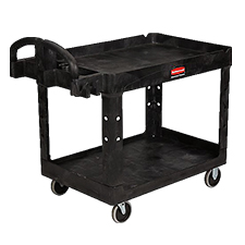 FG452088BLA 2-SHELF UTILITY CART BLACK 1/CS RUBBERMAID