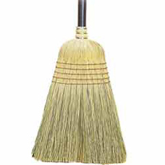 B412 JANITOR BROOM 5-SEW CORN BLEND PAINTED HANDLE