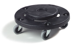 36910 ROUND CONTAINER DOLLY WITH REPLACEABLE CASTERS 2/CS