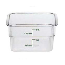 2SFSCW135 CAMBRO FOOD STROAGE CONTAINER SQUARE 2 QT. CLEAR