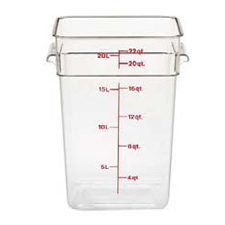 22SFSCW135 CAMBRO FOOD STORAGE CONT WITH HANDLES 22