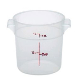 RFS1PP190 CAMBRO FOOD STORAGE CONTAINER ROUND 1qt TRANS