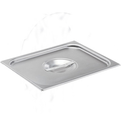 * 75220 VOLLRATH STEAM TABLE PAN COVER STAINLESS HALF SIZE