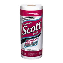 SCOTT 41482 1-PLY KITCHEN PAPER ROLL 20/128sht PER CS